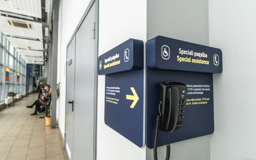 Lietuvos oro uostuose keleiviai, kuriems reikalinga pagalba, gali sulaukti nemokamos palydos