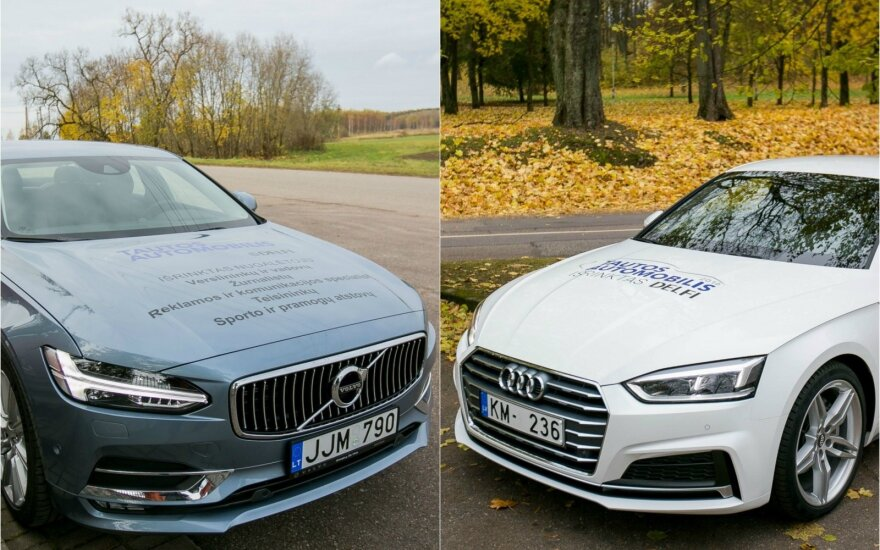 """Volvo S90"" ir ""Audi A5 Coupe"""