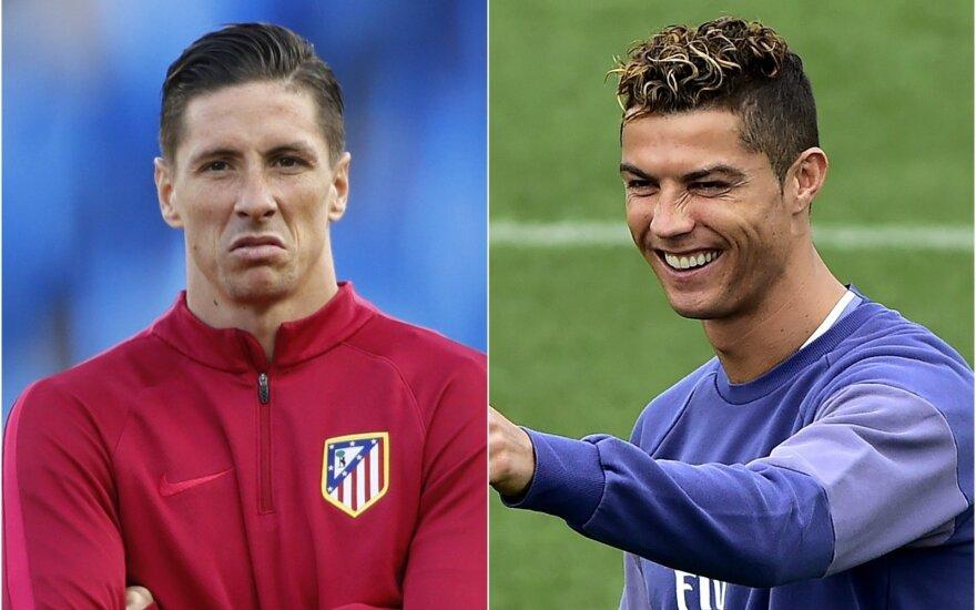 F. Torresas ir C. Ronaldo