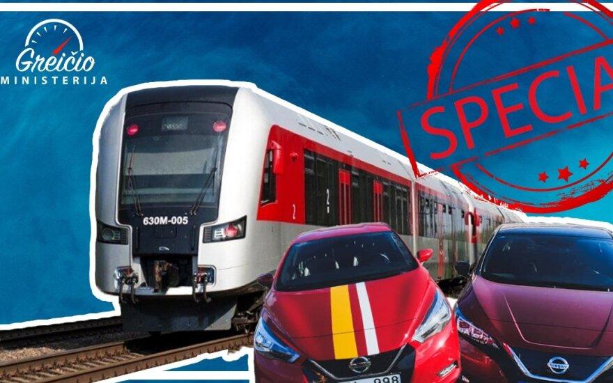 """Patikrino, kas greitesnis: elektromobilis, įprastas automobilis ar viešasis transportas. """"Greičio ministerijos"""" nuotr."""