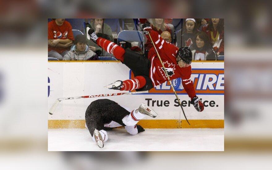 Kanados ir Šveicarijos jaunimo (U-20) ledo ritulio rinktinių mačas