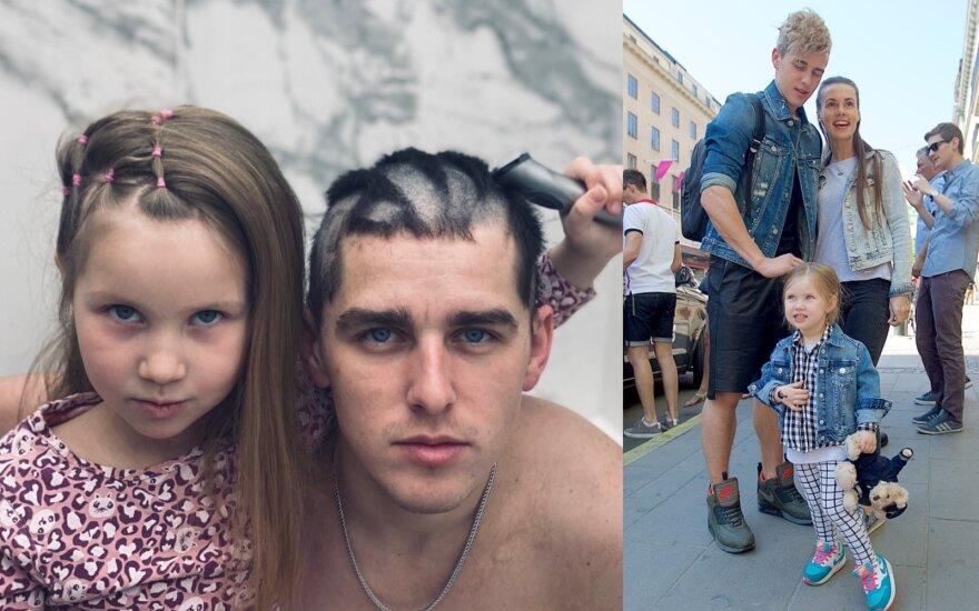 Donatas Montvydas su dukra Adele/Foto: asmeninio archyvo ir Delfi nuotr.