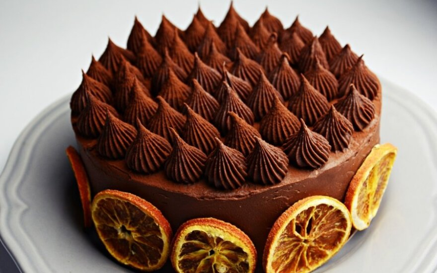 Šokoladinis apelsinų tortas