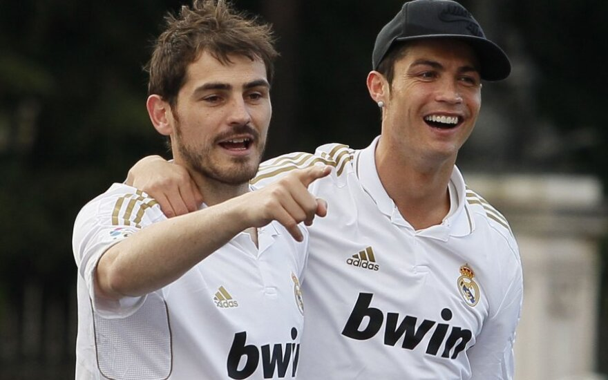 Ikeras Casillas ir Cristiano Ronaldo