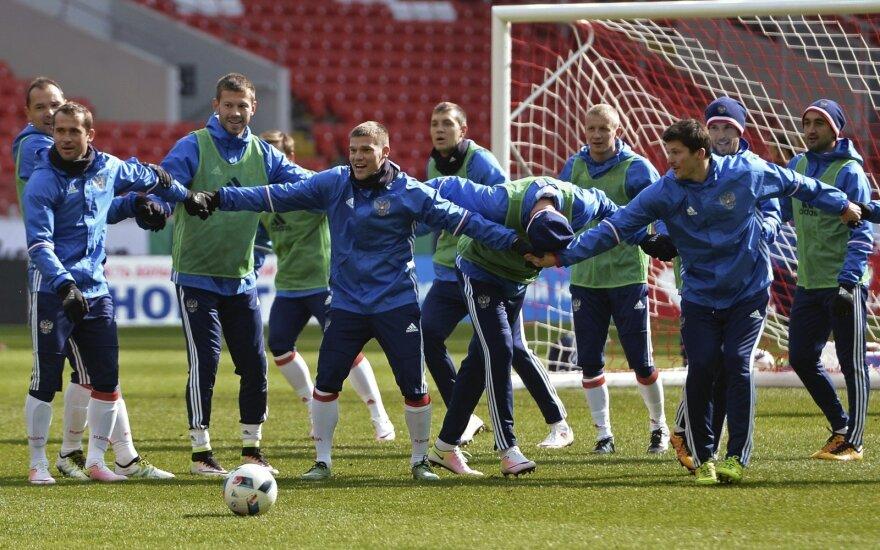 Rusijos futbolo rinktinės treniruotė