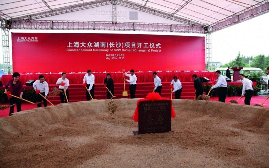 Volkswagen gamyklos Kinijoje statybų pradžia
