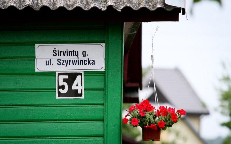 Lietuviškos - Lenkiškos gatvių pavadinimų lentelės