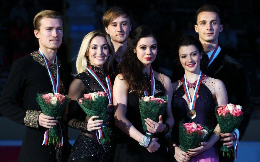 Isabella Tobias ir Ilja Tkačenko (pirmi iš kairės)