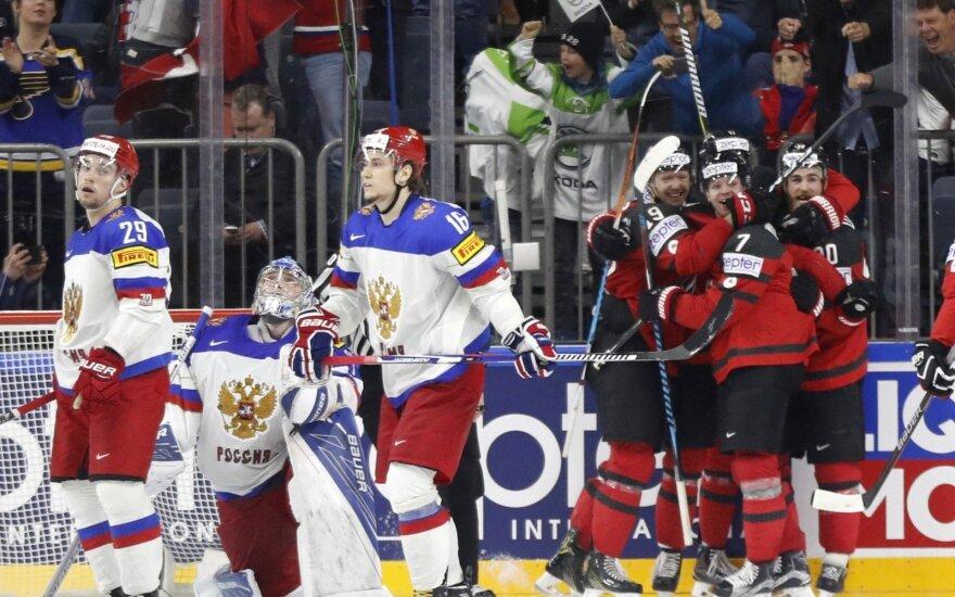 Kanada įveikė Rusijos rinktinę ir žengė į finalą