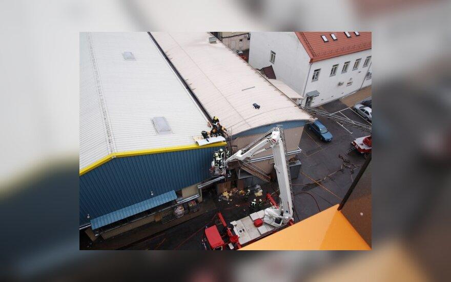 Vilniuje prabangių biurų kvartale kilo gaisras