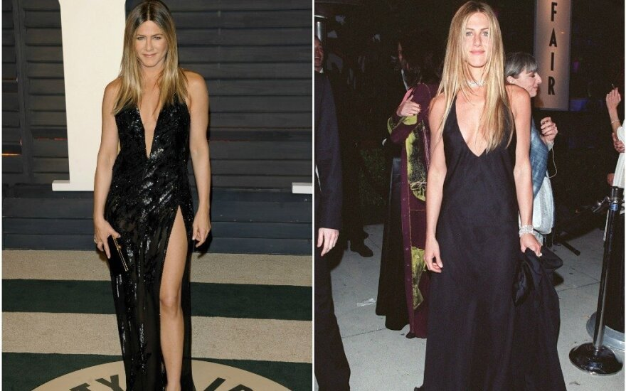Jennifer Aniston 2017 m. ir 2000 m.