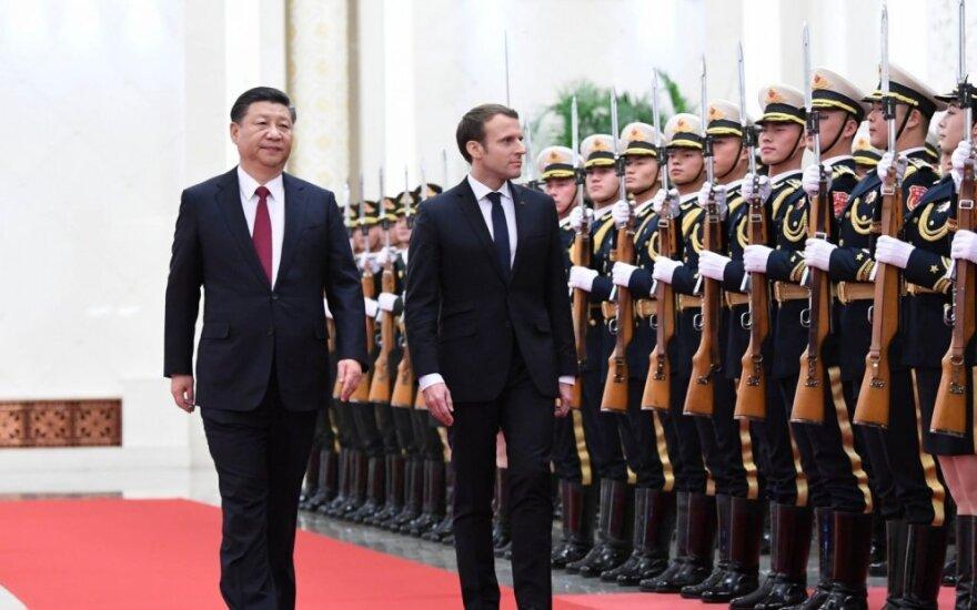 Emmanuelis Macronas ir Xi Jingpingas