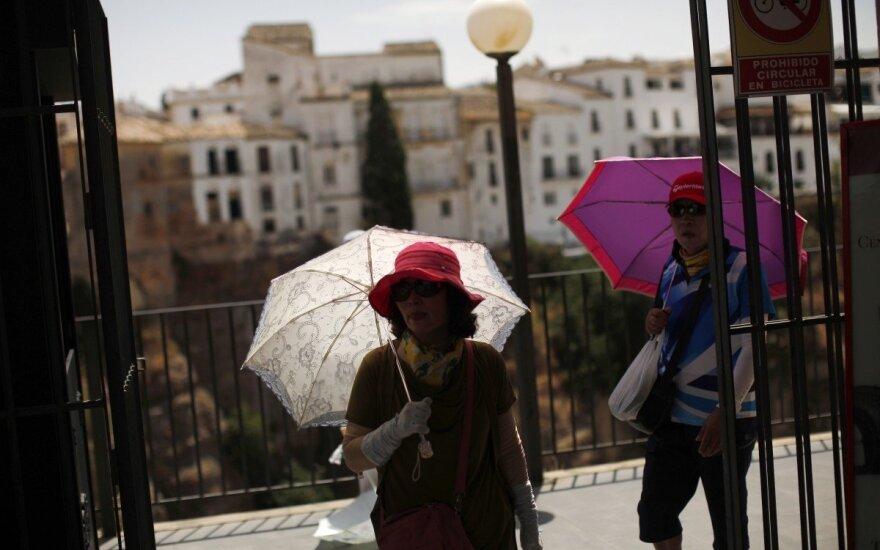 Pernai turistai Ispanijoje išleido rekordiškai daug pinigų
