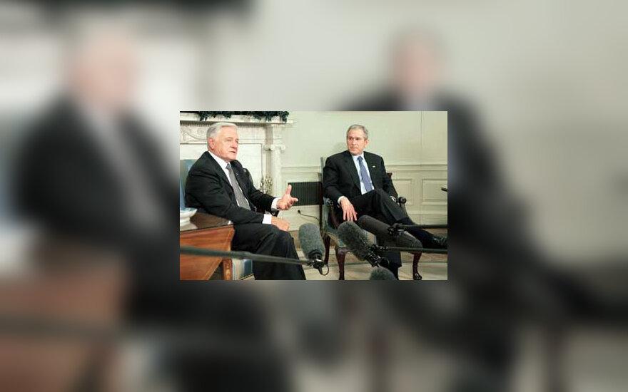 Valdas Adamkus ir George'as Bushas