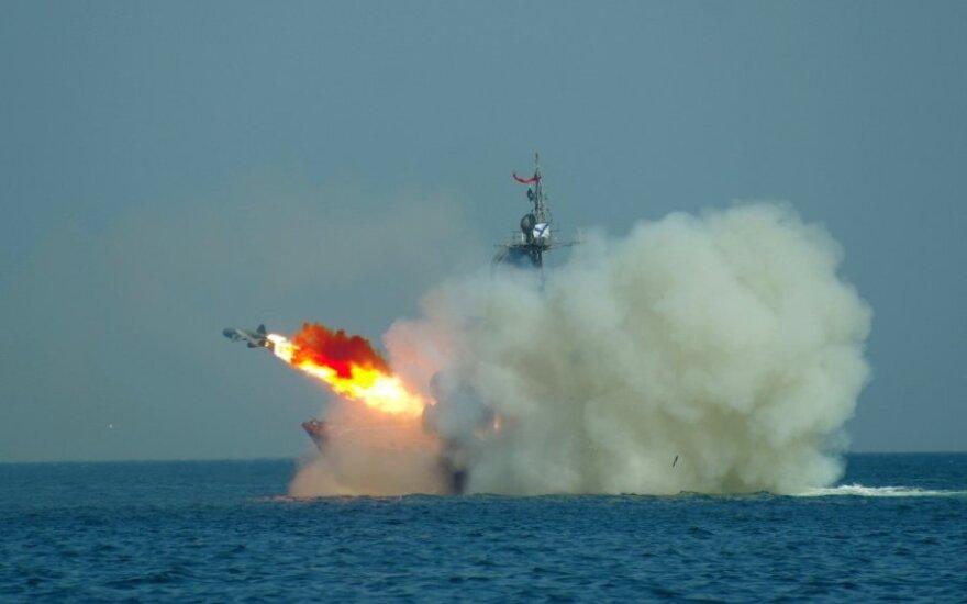 Laivyno galią demonstruojanti Rusija: mes esame pasaulio gėris