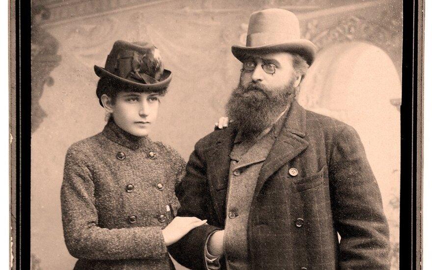 Jonas Basanavičius ir Gabriele Eleonora Mohl