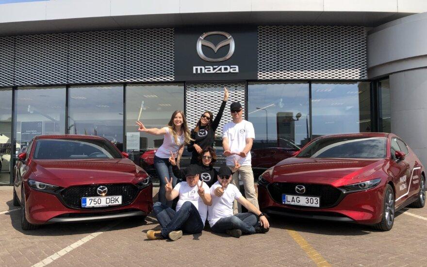 """Žurnalistų ralyje debiutuos """"Mazda Red Dot Team"""""""