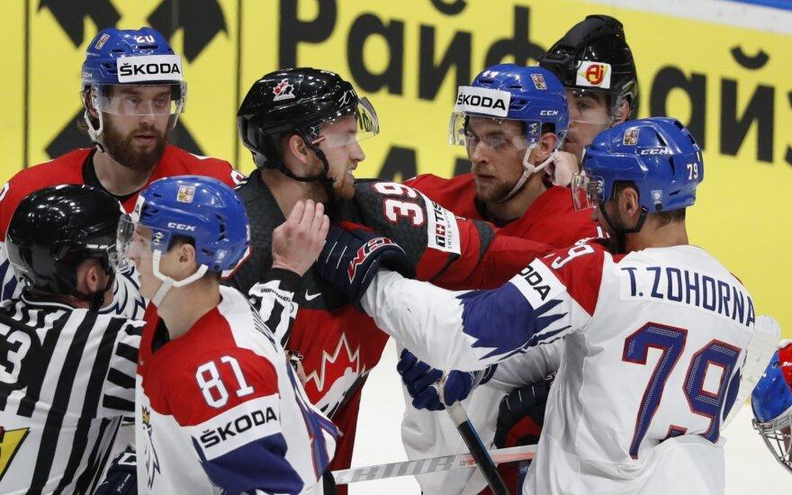 Kanados ir Čekijos rinktinių akistata