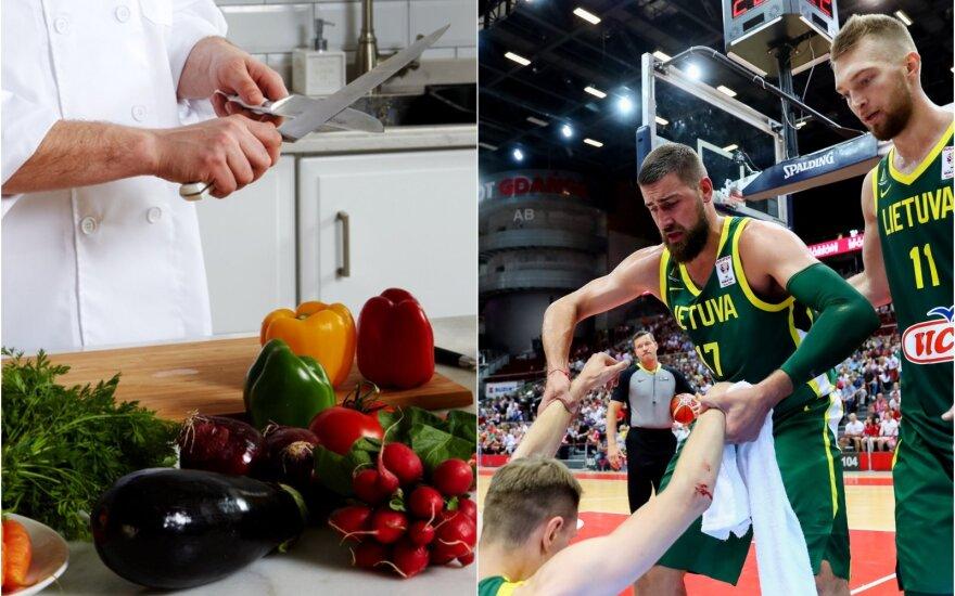 Virtuvės šefas, Jonas Valančiūnas, Domantas Sabonis