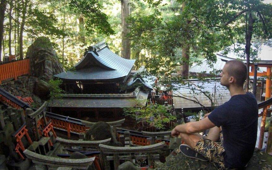 J. Laukaitis Kioto šventykloje