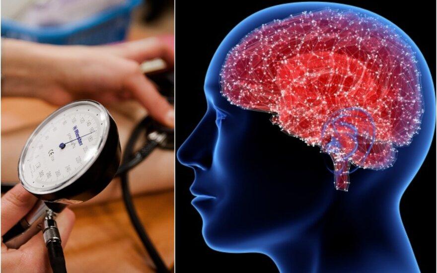 Hipertenzija ir smegenų veikla