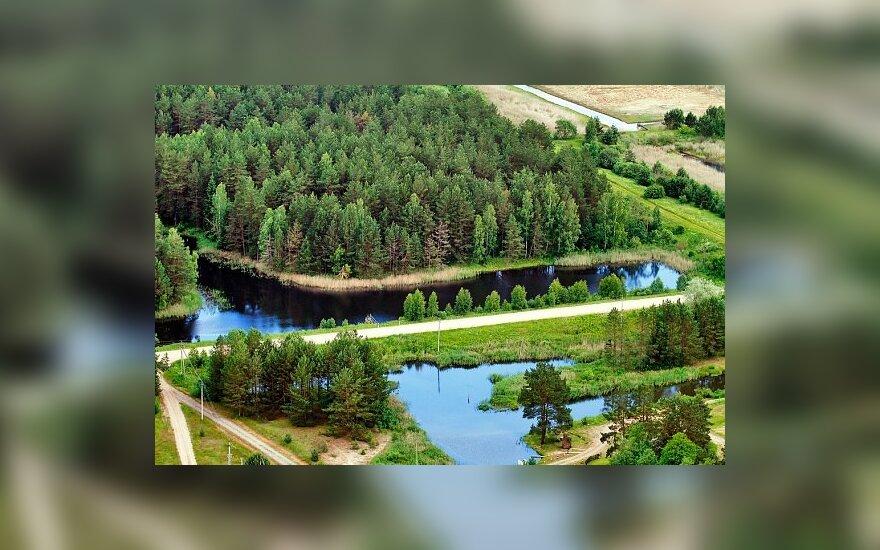 Švenčionių rajono savivaldybės žaluma iš oro