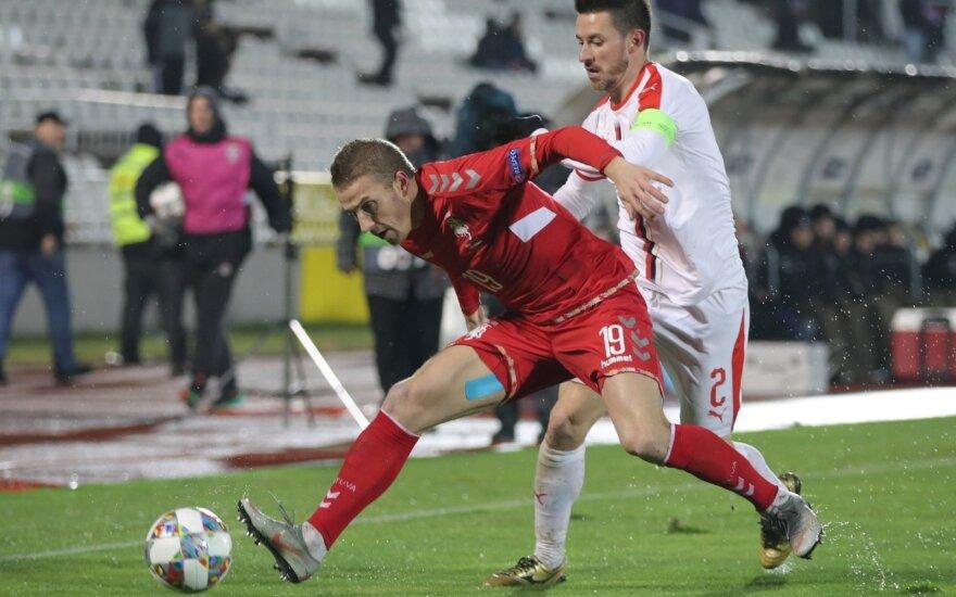 UEFA Tautų lyga: Serbija - Lietuva, Vaidas Slavickas