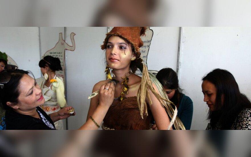 Nepalo sostinėje įvyko mados šou, skirtas Žemės dienai paminėti
