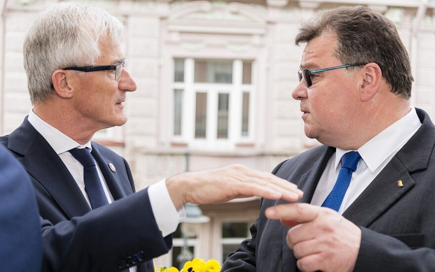 Flemish Minister-President Bourgeois with Foreign Minister Linas Linkevičius