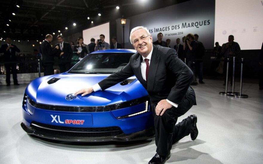 Martinas Winterkornas prie Volkswagen XL Sport