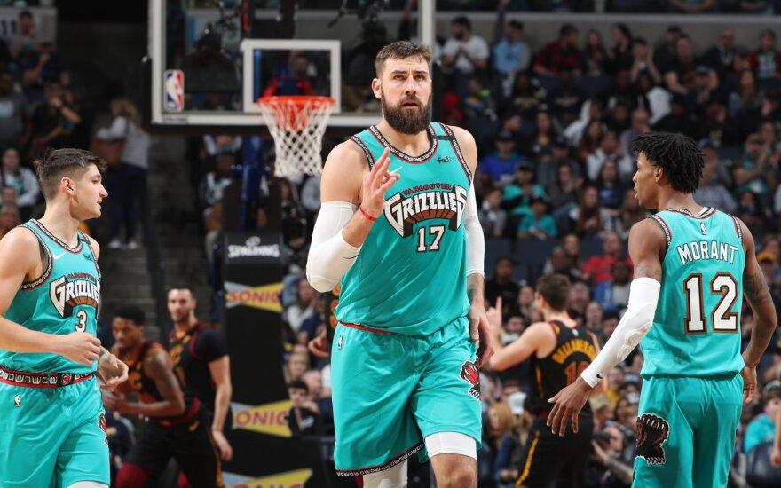 """NBA, """"Grizzlies"""" - """"Cavaliers"""", Jonas Valančiūnas"""