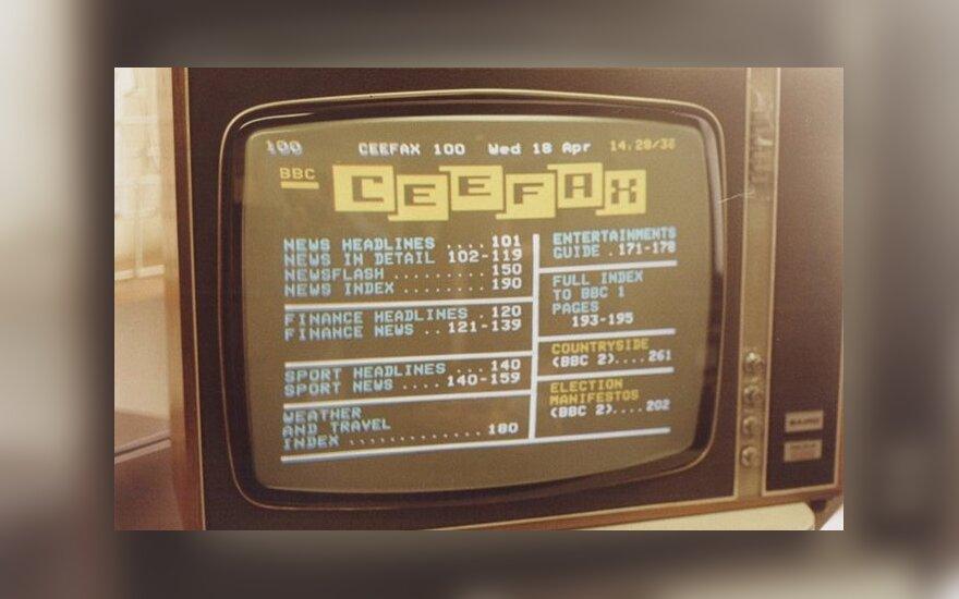 """Pirmąją teleteksto sistemą """"Ceefax"""" sukūrė BBC televizija 1974 metais. Ji buvo sustabdyta tik šiais metais, kuomet Didžiojoje Britanijoje buvo išjungti analogtinės TV siųstuvai (teakdoor.com)"""