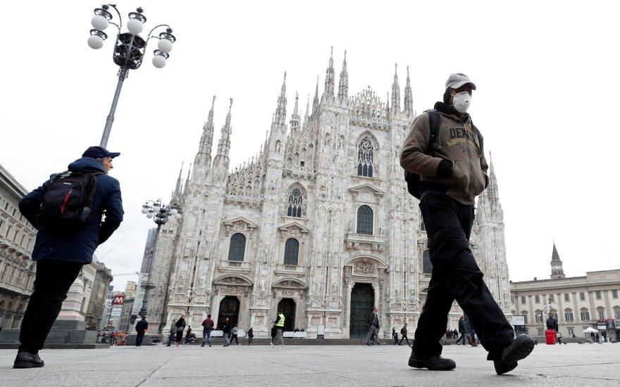 Italija uždaro Milaną ir Lombardijos regioną – siekia sustabdyti koronaviruso plitimą