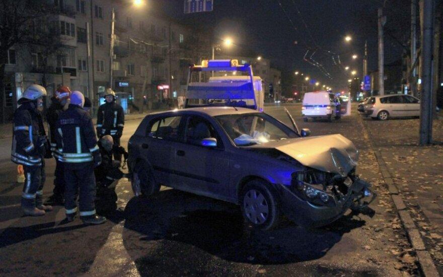 """Avarija Kaune: """"Nissan Almera"""" vairuotojas mirė ligoninėje"""