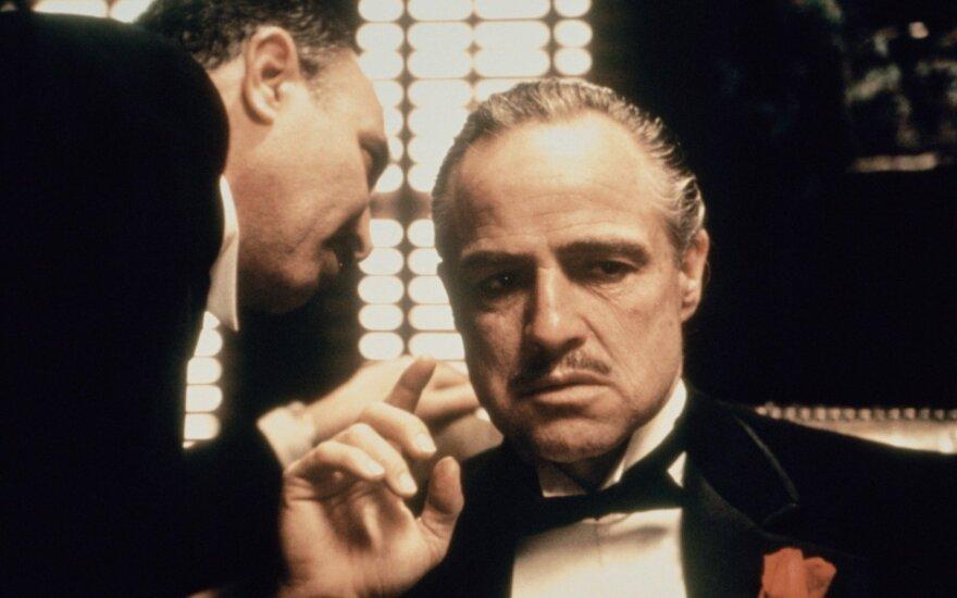 """Marlonas Brando filme """"Krikštatėvis"""""""