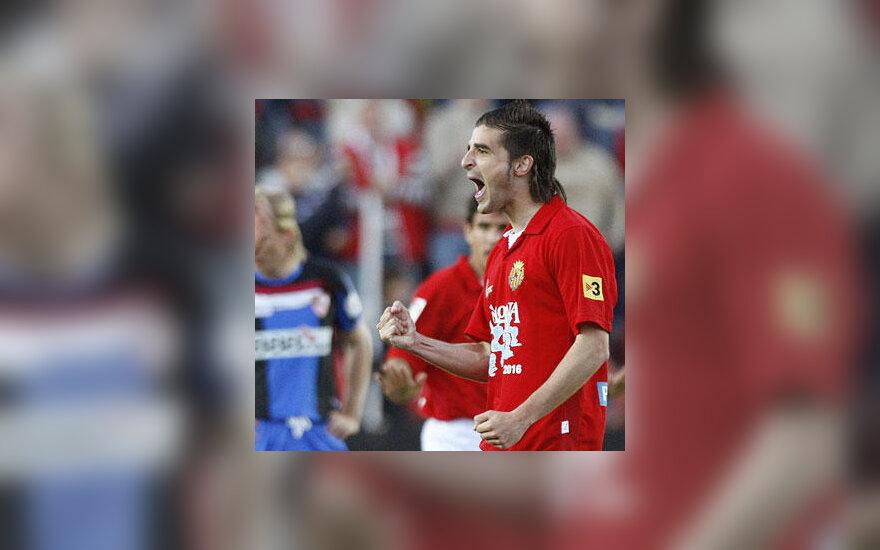 """Javier Portillo (""""Gimnastic"""") įvarčio į """"Sevilla"""" vartus autorius"""