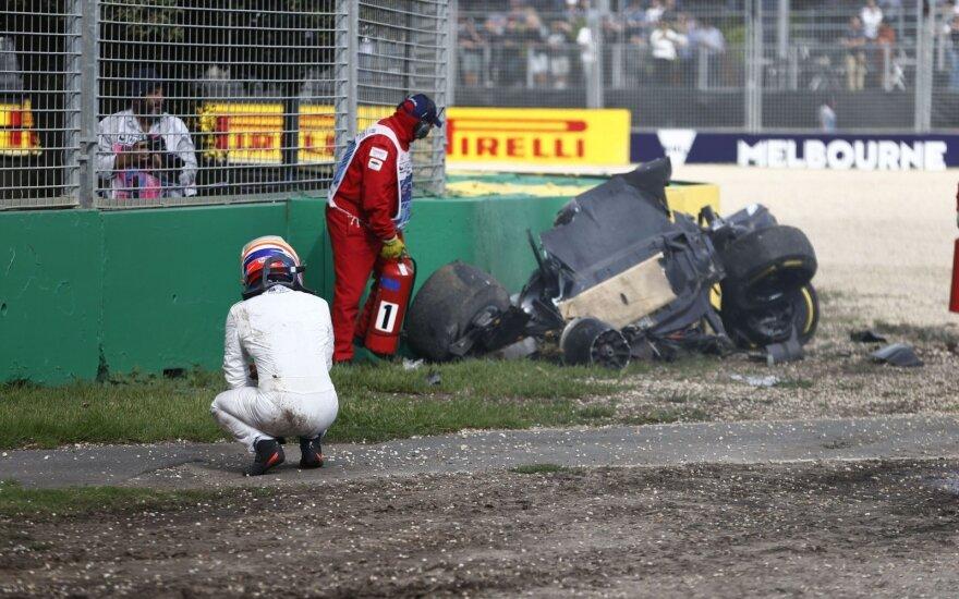 """McLaren"": F. Alonso avarija buvo labai rimta"