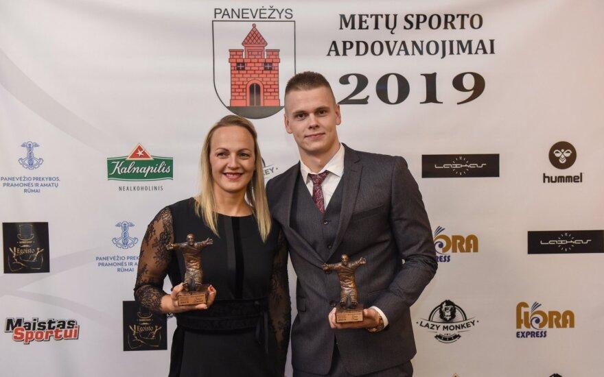 Simona Krupeckaitė ir Danas Rapšys (G. Kartano / Panevėžio m. savivaldybės nuotr.)