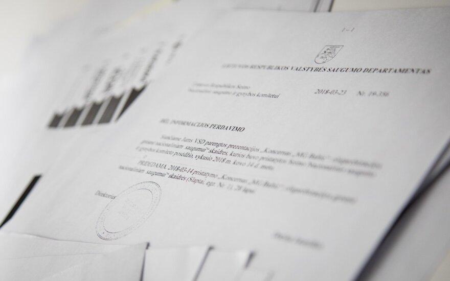 Įtariamiems žvalgybininkams bus kompensuojamos išlaidos už teisines paslaugas