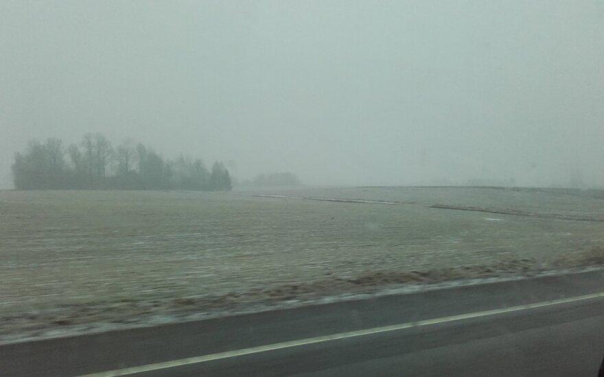 Į Marijampolės rajoną sugrįžo žiema