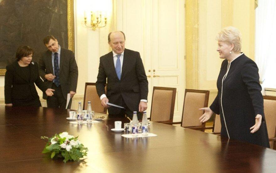 Dalia Grybauskaitė susitinka su vyriausybės atstovais