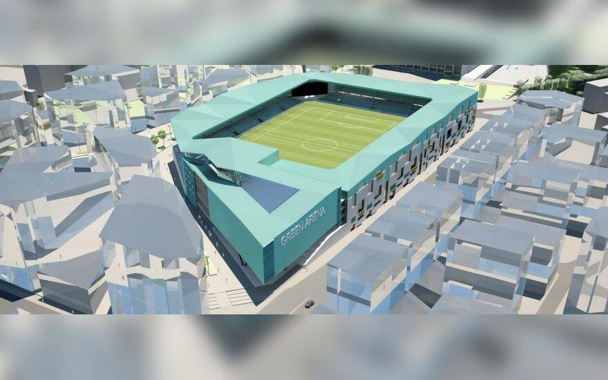 Futbolo stadiono Vilniuje vizualizacija