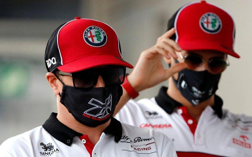 Kimi Raikkonenas (kairėje), Antonio Giovinazzi