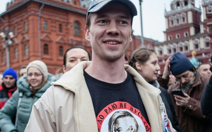 Maskvoje sulaikytas opozicijos aktyvistas I. Dadinas
