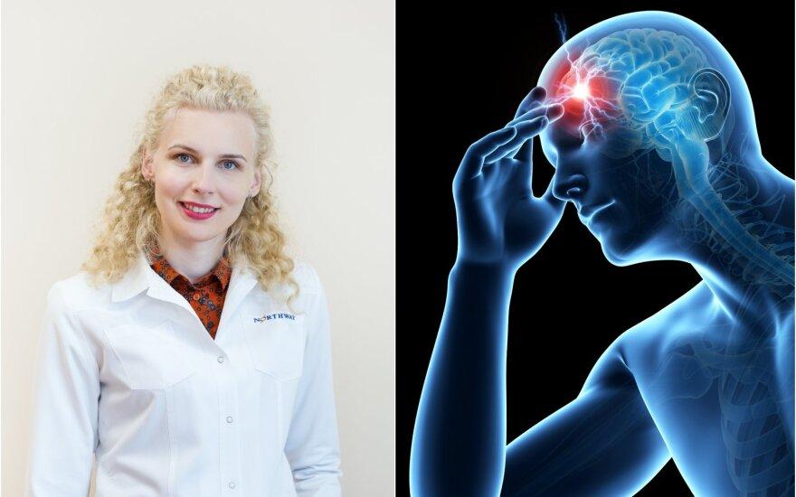Gydytoja neurologė Raminta Godelienė papasakojo apie neurologinius simptomus.