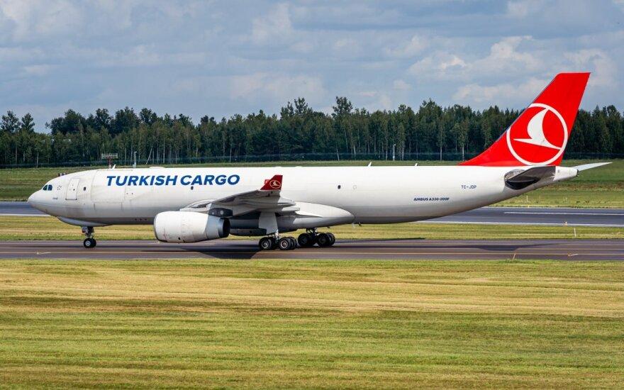 """""""Turkish Cargo"""" (nuotr. Martyno Jaugelavičiaus)"""