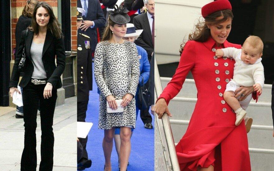 Kate Middleton stiliaus evoliucija