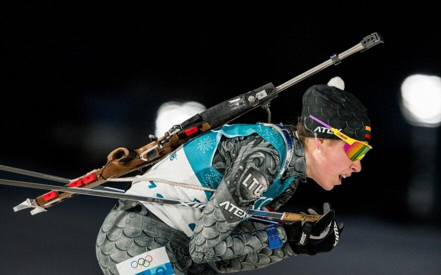 Pjongčango olimpiada: biatlono varžybų moterų 15 km asmeninės lenktynės – Diana Rasimovičiūtė ir Natalija Kočergina