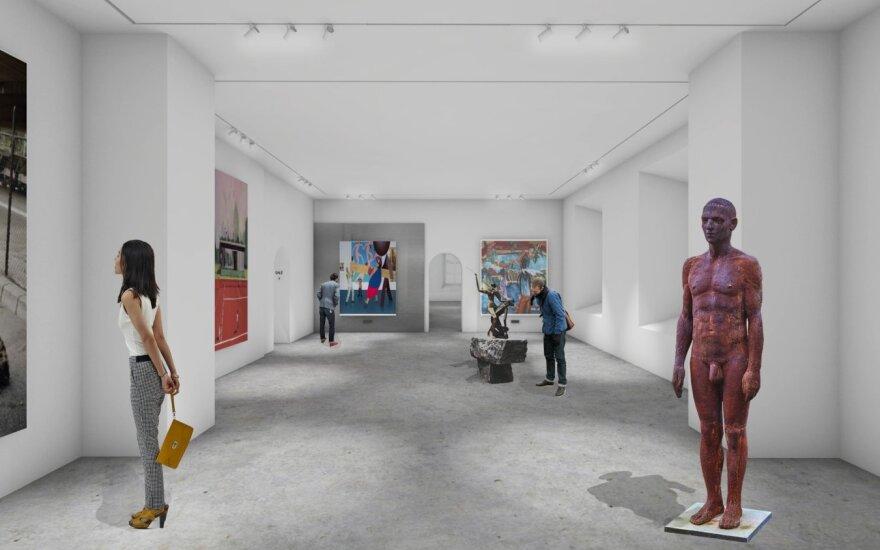 """Lewben Art Foundation"" meno centro vizualizacija. ""IMPLMNT architects"""
