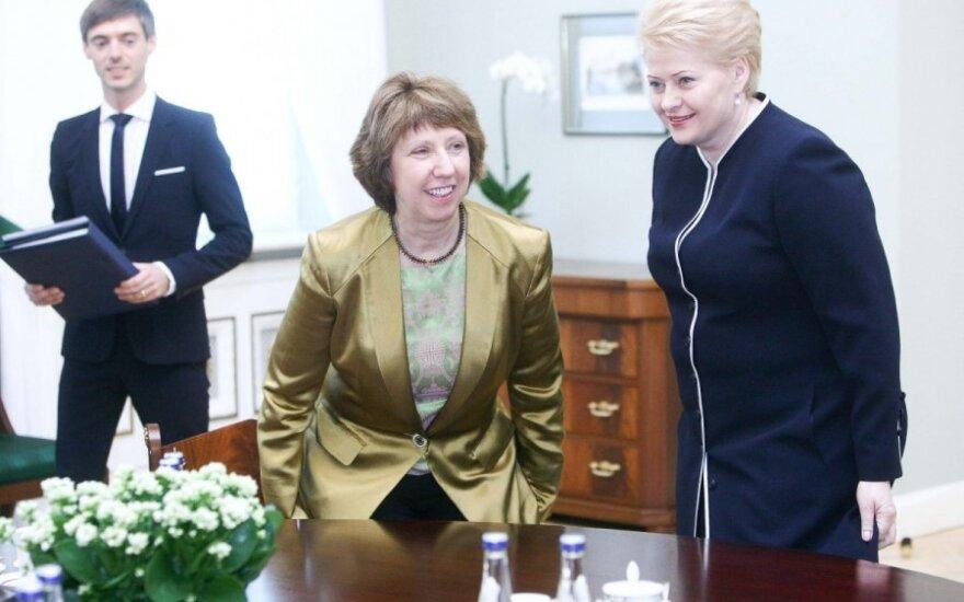 Dalia Grybauskaitė susitinka su Catherine Ashton
